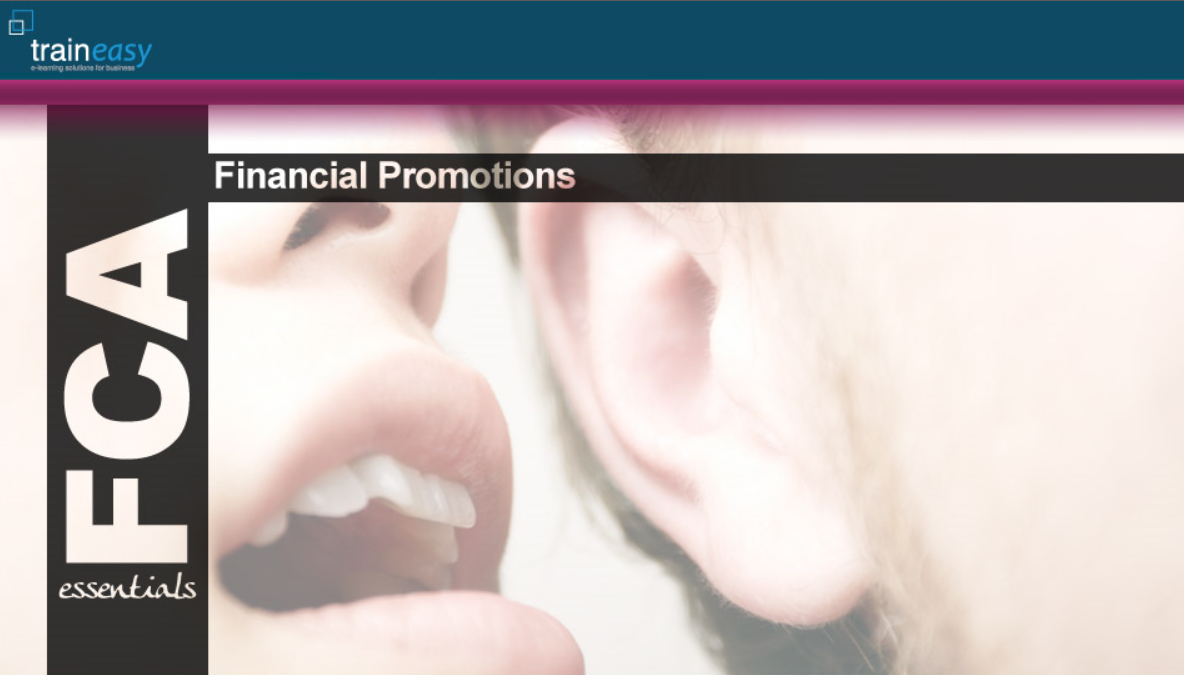 Financial Promotions Front Page