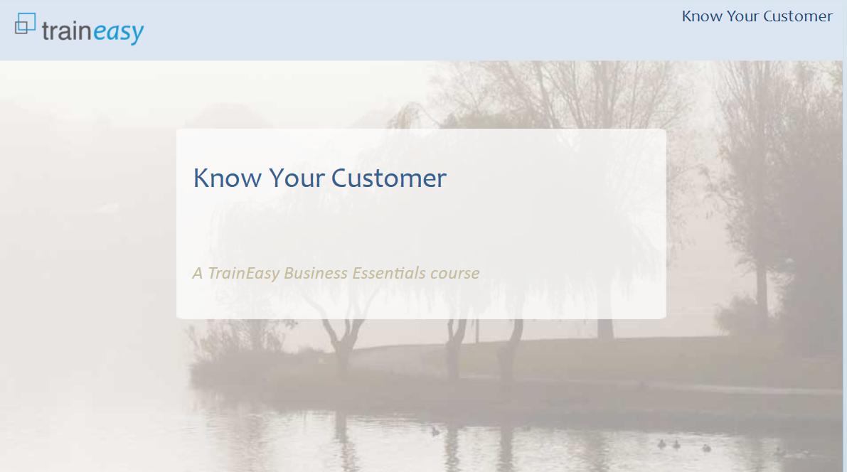 Know your customer Front Page